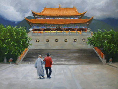 Old Chinese Man Painting - Generations Of Faith by Vicky Gooch