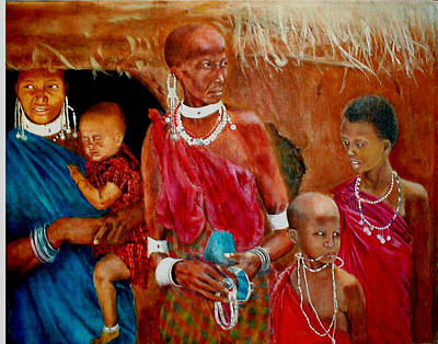 Beadwork Painting - Generations3 by G Cuffia