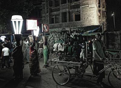 Photograph - Generator Man, Bhubaneswar 2010 by Chris Honeyman