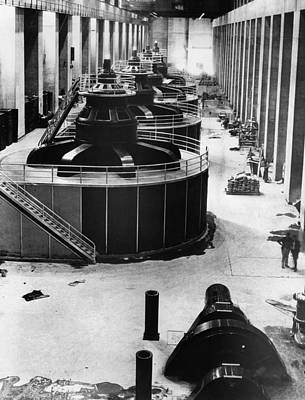 Ev-in Photograph - Generators At Hoover Dam Power House by Everett