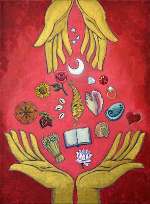 Tibetan Buddhism Painting - Generosity by Jennifer Masters