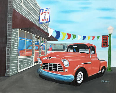 Painting - Gene's Barbershop by Dean Glorso