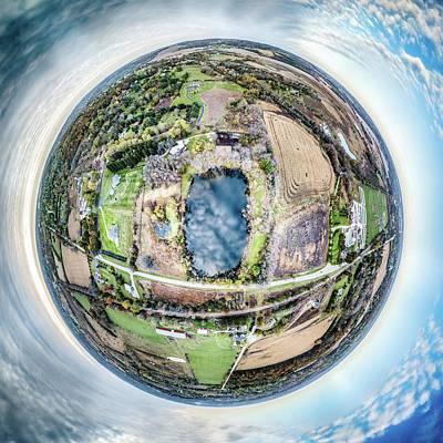 Photograph - Genesee Pond Little Planet by Randy Scherkenbach