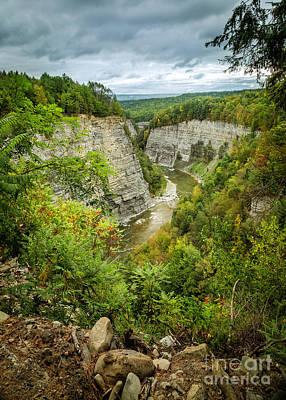 Photograph - Genesee River Gorge Early Autumn by Karen Jorstad