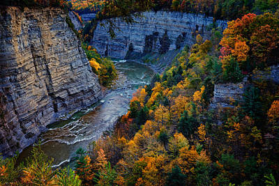 Photograph - Genesee River Gorge II by Rick Berk