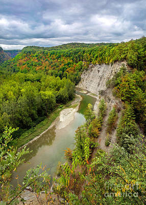 Photograph - Genesee River Gorge Letchworth Near Tea Table by Karen Jorstad