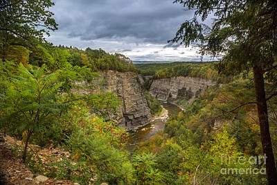 Photograph - Genesee River Overlook by Karen Jorstad