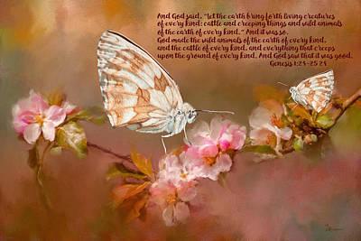 Butterflies Photograph - Genesis 1 24-25 24 by Ericamaxine Price