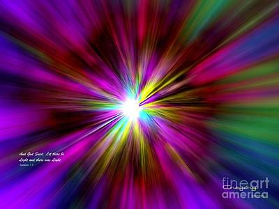 Digital Art - Genesis 1 Verse 3 by Greg Moores