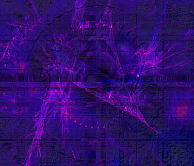Digital Art - Purple And Blue Fractals by Fine Art By Andrew David