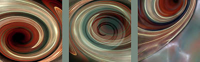 Susann Serfezi Digital Art - Genesis Triptychon by AugenWerk Susann Serfezi