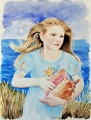 Painting - Genesis Conch Shell Rescuer by Kathryn Donatelli