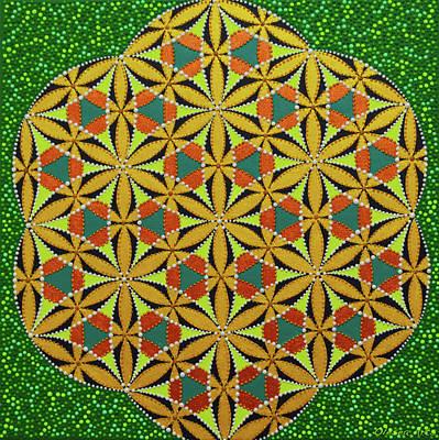 Painting - Genesis Dot Painting by Olesea Arts