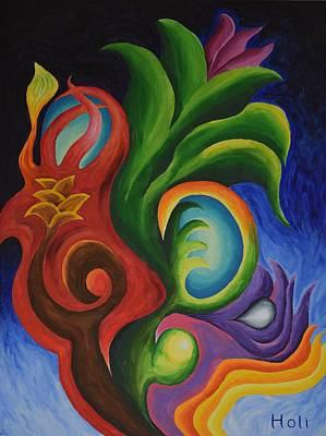 Holi Painting - Genesis Flower by Holi