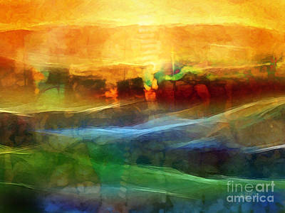 Abstract Fields Digital Art - Genesis IIi by Lutz Baar