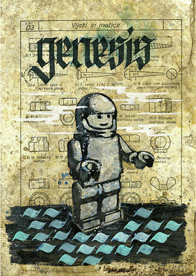Lego Drawing - Genesis by Morning after Turgenev
