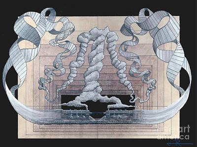 Mind Bending Drawing - Genetic Engineering by Jim Rehlin