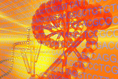 Testtube Digital Art - Genetic Research by Carol and Mike Werner