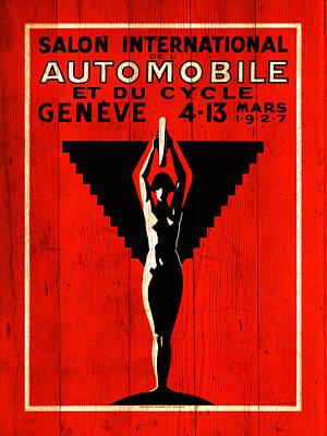 Geneva Photograph - Geneva Motorshow 1927 by Mark Rogan