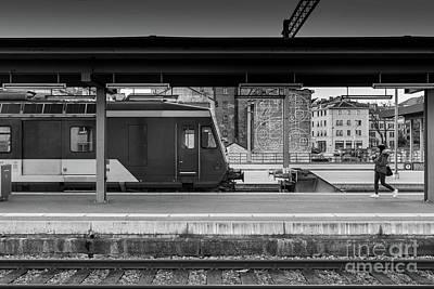 Photograph - Geneva Station  by Roger Lighterness