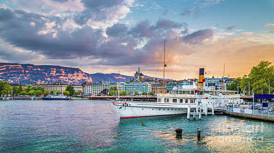 Photograph - Geneva Sunset by JR Photography