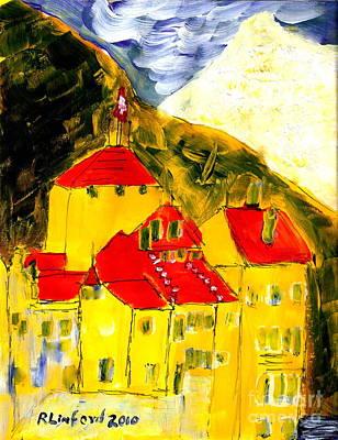 Painting - Geneva Switzerland Castle by Richard W Linford