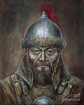 Painting - Genhis Khan by Arturas Slapsys