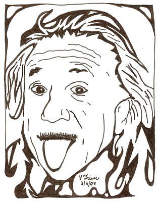 Yonatan Drawing - Genius Maze Of Albert Einstein by Yonatan Frimer Maze Artist