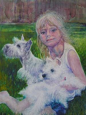 Painting - Genna And Friends by Annika Farmer