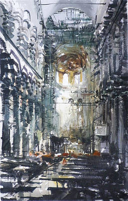 Genoa Cathedral Original by Tony Belobrajdic