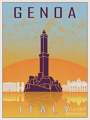 Genoa Painting - Genoa Vintage Poster by Pablo Romero