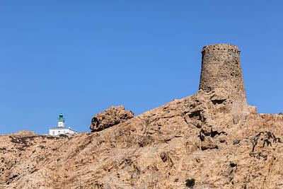Genoese Tower L'ile Rousse - Corsica Art Print