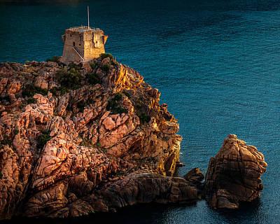 Genoese Tower, Porto, Corsica Art Print