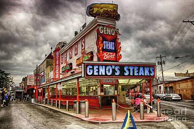 Geno's Steaks Art Print by Lisa Hurylovich