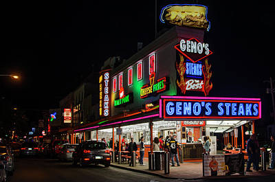 Genos Steaks Of South Philly Art Print by Bill Cannon