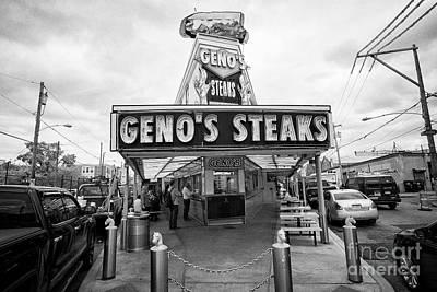 Genos Photograph - genos steaks Philadelphia USA by Joe Fox
