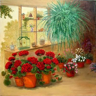 Gen's Green Room Art Print by Jeanene Stein