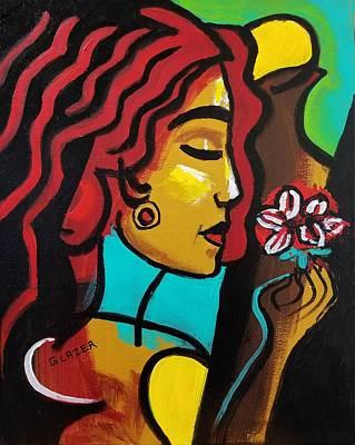 Wall Art - Painting - Gentle As A Summer Flower by Stuart Glazer