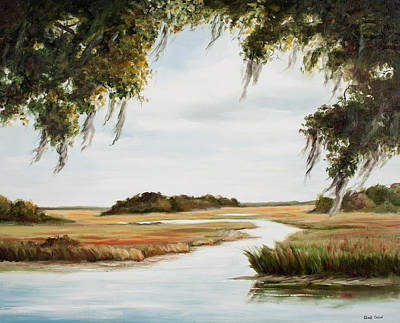 Marsh Scene Painting - Gentle Breeze by Glenda Cason