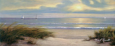 Painting - Gentle Breeze Panoramic by Diane Romanello