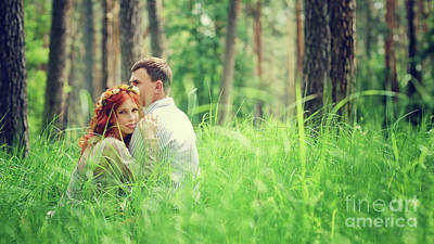 Photograph - Gentle Couple In The Forest by Anna Om
