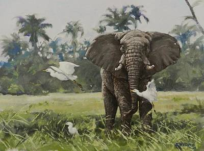 Painting - Gentle Giant by Robert Teeling