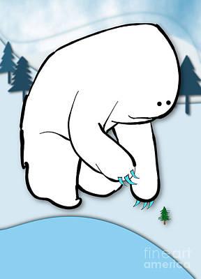 Digital Art - Gentle Giant Wintertime by Uncle J's Monsters