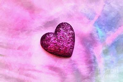 Abstract Hearts Photograph - Gentle Heart by Krissy Katsimbras