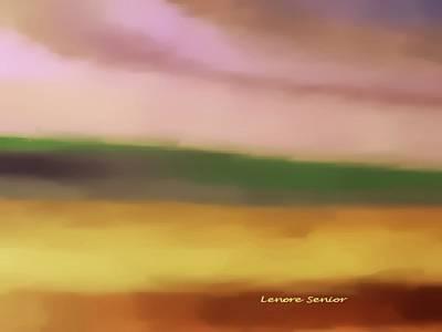 Mixed Media - Gentle Hillside by Lenore Senior