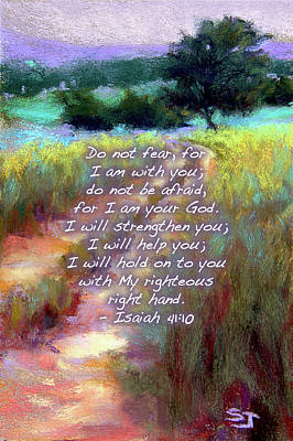 Painting - Gentle Journey With Bible Verse by Susan Jenkins