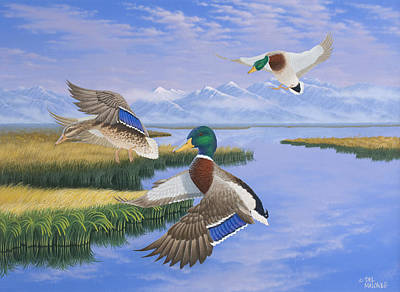 Painting - Gentle Landing by Del Malonee