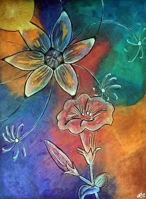 Gentle Lily Pads Original by Laurie Cairone