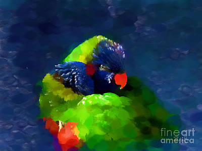 Parrot Digital Art - Gentle Love by Betty LaRue