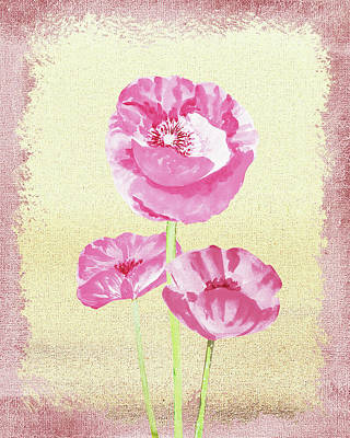 Painting - Gentle Pink Floral Decor by Irina Sztukowski